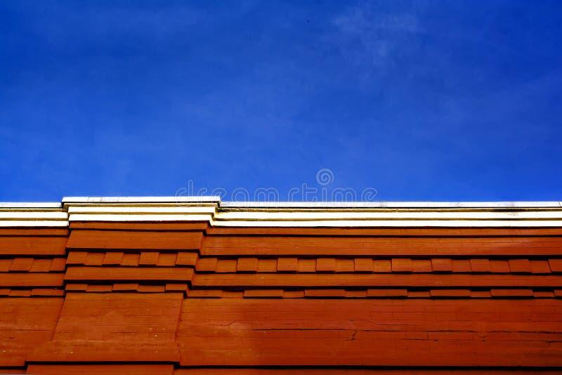 Τούβλινο κτήριο στοκ εικόνες