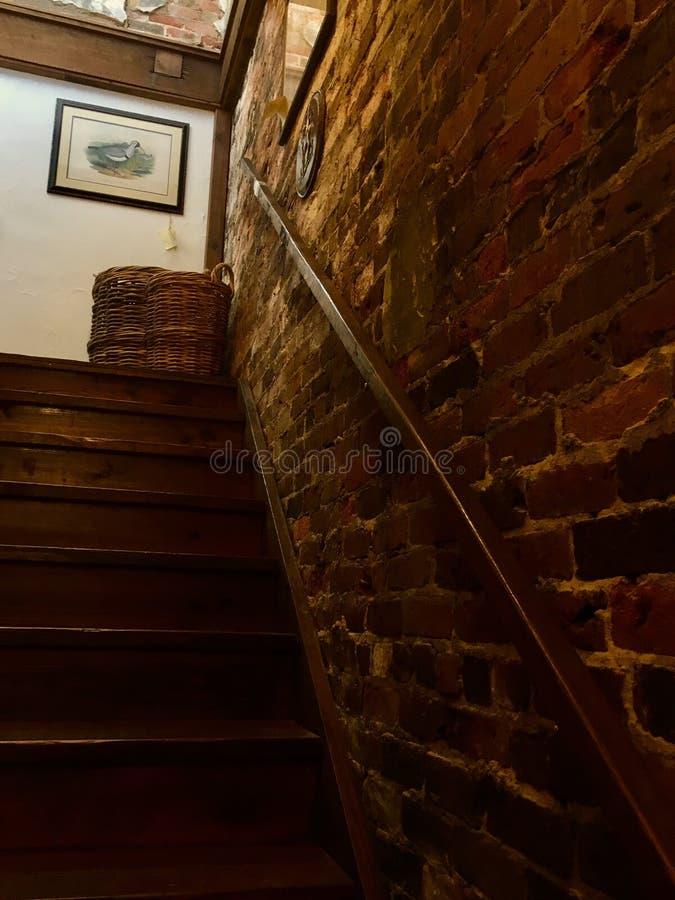 Τούβλο Stairwell στοκ φωτογραφίες με δικαίωμα ελεύθερης χρήσης