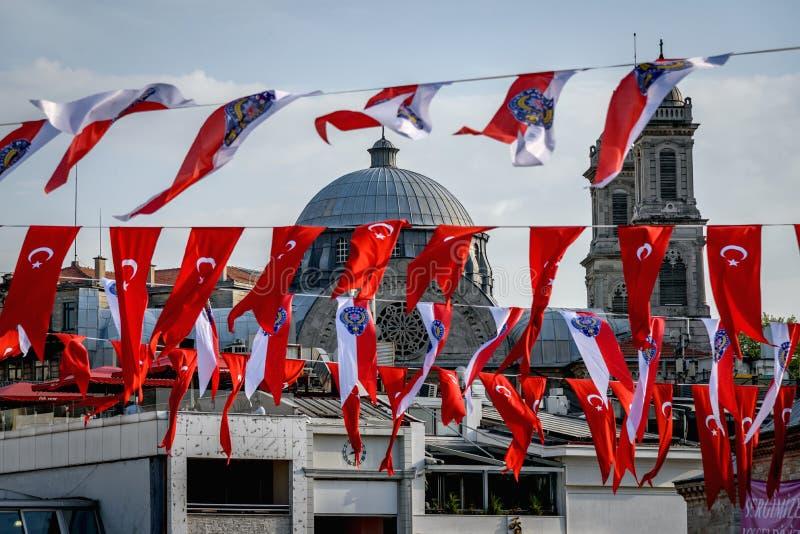 Τούρκος σημαιών στοκ φωτογραφία