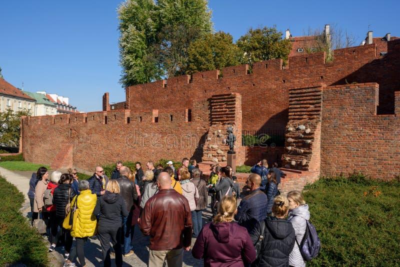 Το άγαλμα στρατιωτών παιδιών στη Βαρσοβία στοκ φωτογραφία