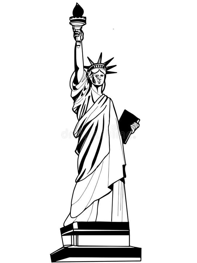 Το άγαλμα της απεικόνισης ελευθερίας διανυσματική απεικόνιση