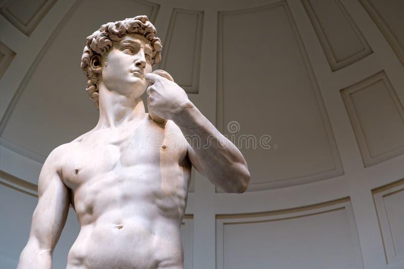 Το άγαλμα του Δαβίδ γλυπτό από Michelangelo στοκ εικόνα