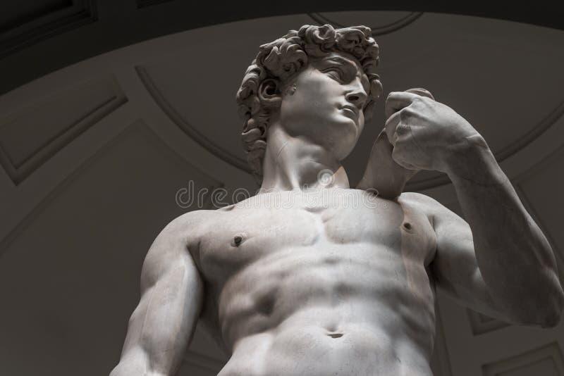 Το άγαλμα του Δαβίδ είναι μια κατώτατη άποψη χωρίς τουρίστες στοκ φωτογραφία με δικαίωμα ελεύθερης χρήσης