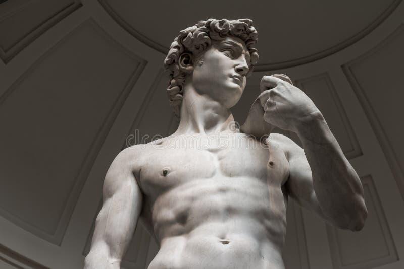 Το άγαλμα του Δαβίδ είναι μια κατώτατη άποψη χωρίς τουρίστες στοκ εικόνες με δικαίωμα ελεύθερης χρήσης