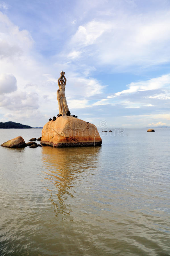 Το άγαλμα του κοριτσιού ψαράδων στοκ φωτογραφίες με δικαίωμα ελεύθερης χρήσης