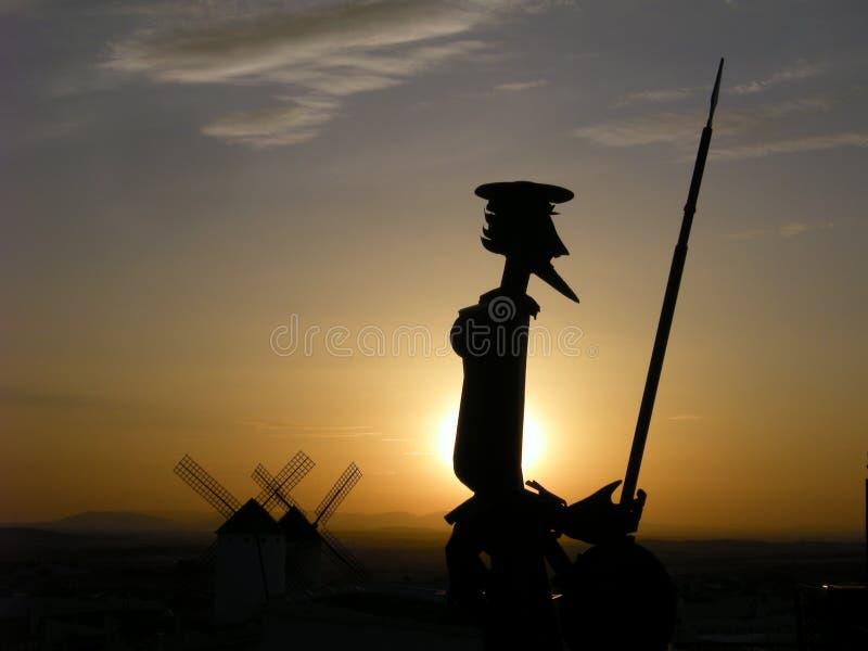 Το άγαλμα φορά Δον Κιχώτης στοκ εικόνα