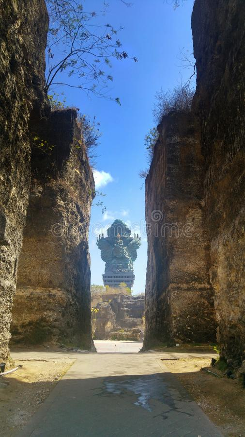Το άγαλμα Garuda Wisnu Kencana στο πολιτιστικό πάρκο GWK στο Μπαλί στοκ εικόνα