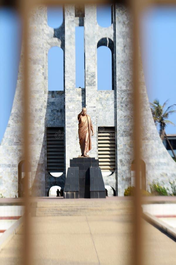 Το άγαλμα Kwame Nkurumah στην κεντρική Άκρα, Γκάνα στοκ φωτογραφίες με δικαίωμα ελεύθερης χρήσης