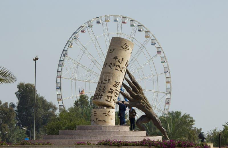 Το άγαλμα σώζει το Ιράκ στοκ φωτογραφία με δικαίωμα ελεύθερης χρήσης