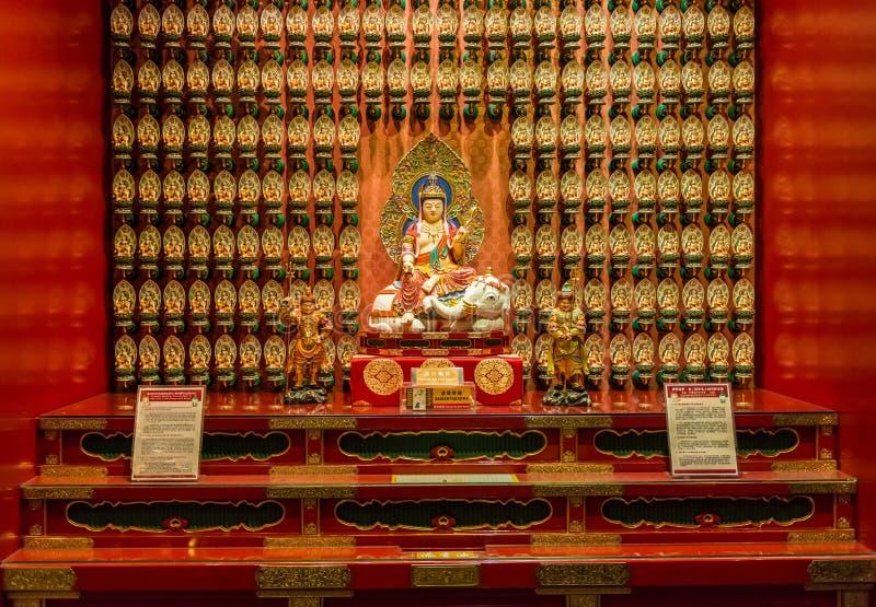 Το άγαλμα του Βούδα στον κινεζικό ναό λειψάνων δοντιών του Βούδα στοκ εικόνες