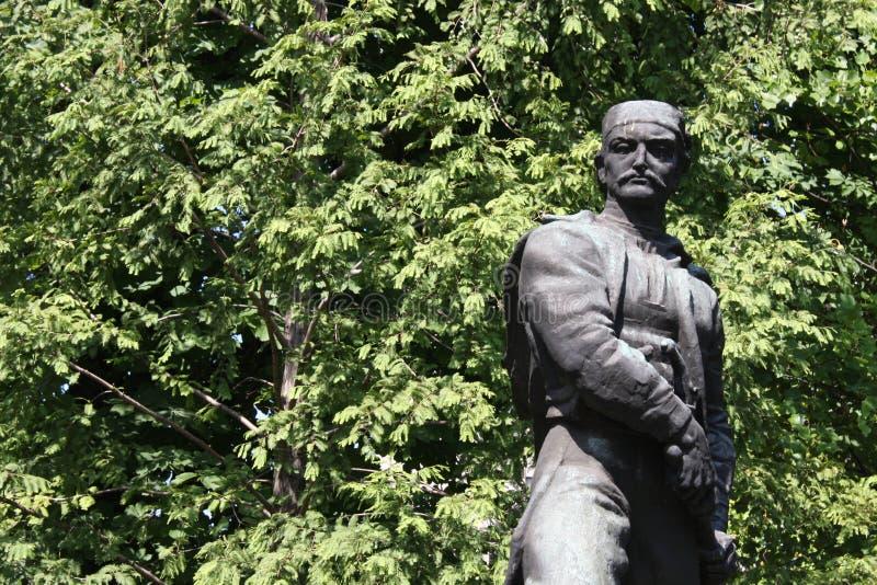 Το άγαλμα των αγγείων Carapic Vasilije σε Βελιγράδι, γνωστό ως δράκος από Avala ήταν σερβικός στρατιωτικός διοικητής που συμμετεί στοκ φωτογραφία με δικαίωμα ελεύθερης χρήσης