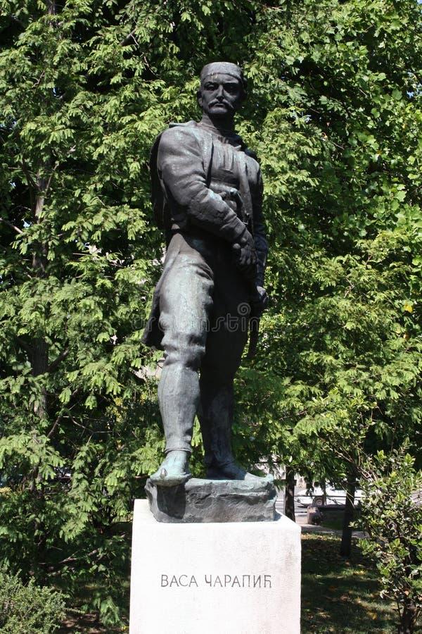 Το άγαλμα των αγγείων Carapic Vasilije σε Βελιγράδι, γνωστό ως δράκος από Avala ήταν σερβικός στρατιωτικός διοικητής που συμμετεί στοκ φωτογραφίες με δικαίωμα ελεύθερης χρήσης