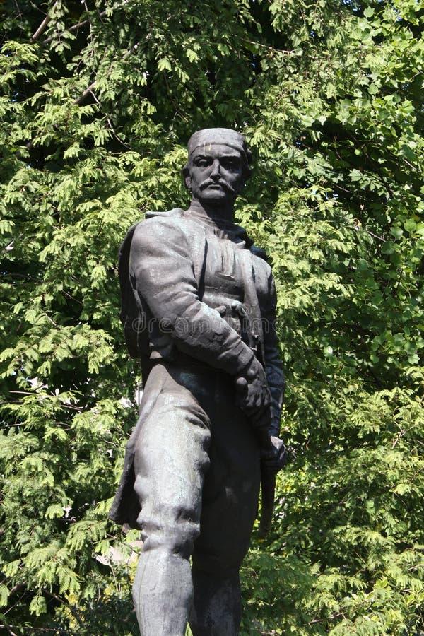 Το άγαλμα των αγγείων Carapic Vasilije σε Βελιγράδι, γνωστό ως δράκος από Avala ήταν σερβικός στρατιωτικός διοικητής που συμμετεί στοκ εικόνα με δικαίωμα ελεύθερης χρήσης