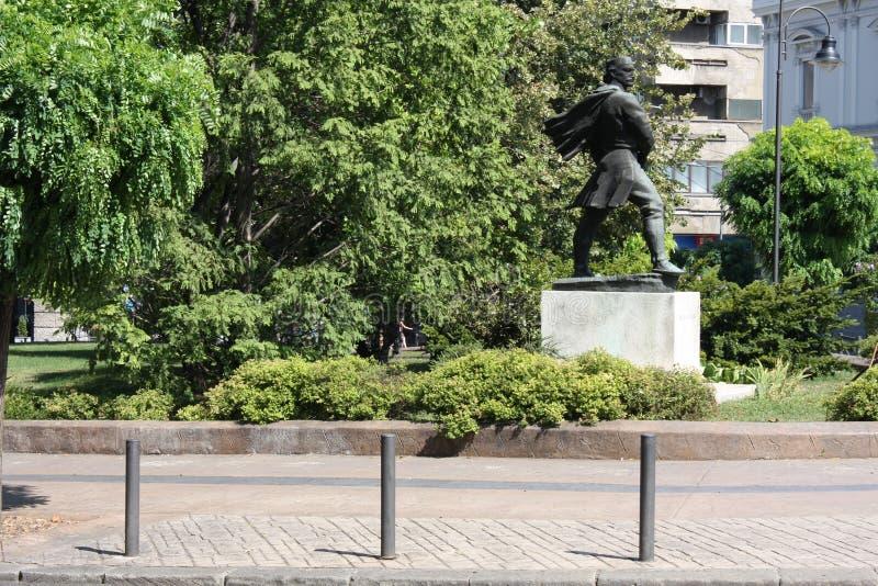 Το άγαλμα των αγγείων Carapic Vasilije σε Βελιγράδι, γνωστό ως δράκος από Avala ήταν σερβικός στρατιωτικός διοικητής που συμμετεί στοκ φωτογραφίες