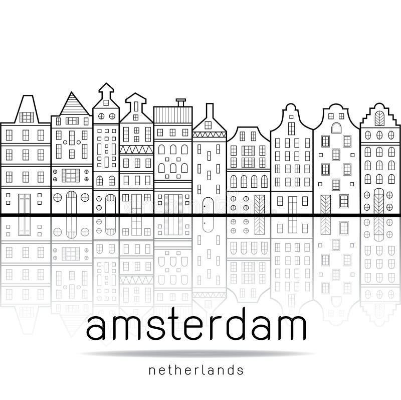 Το Άμστερνταμ στεγάζει το ύφος Κάτω Χώρες απεικόνιση αποθεμάτων