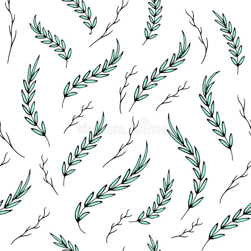 Το άνευ ραφής αφηρημένο θερινό aquamarine αφήνει το σχέδιο ελεύθερη απεικόνιση δικαιώματος