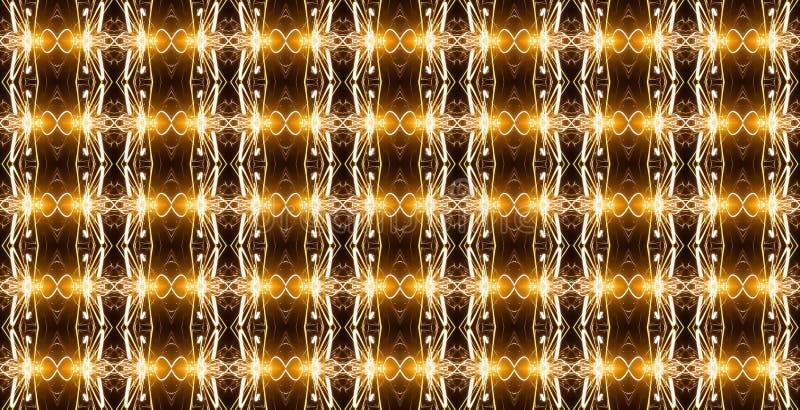 Το άνευ ραφής γεωμετρικό σχέδιο στα χρυσά χρώματα με φωτεινό διανυσματική απεικόνιση