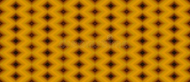 Το άνευ ραφής γεωμετρικό σχέδιο των μαύρων και καφετιών διαμαντιών φωνάζει ελεύθερη απεικόνιση δικαιώματος