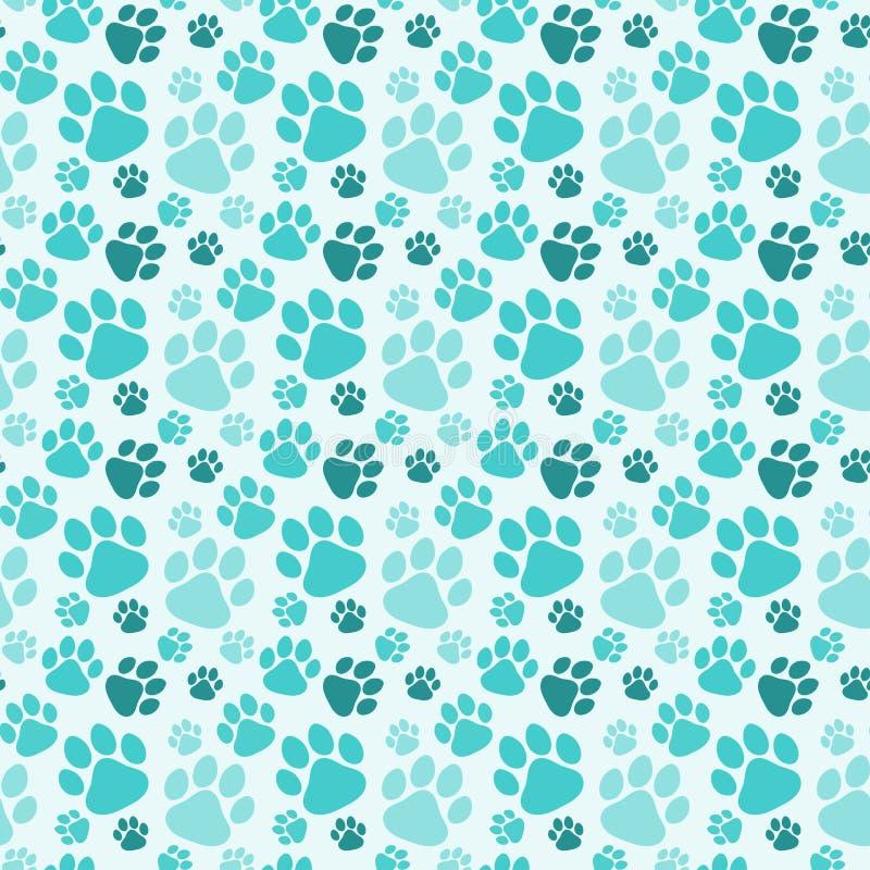 Το άνευ ραφής πόδι σκυλιών τυπώνει το υπόβαθρο διανυσματική απεικόνιση