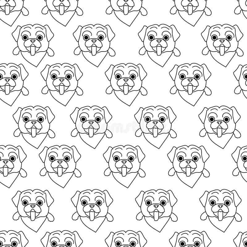 Το άνευ ραφής σχέδιο με τους μαλαγμένους πηλούς έκανε στο ύφος της τέχνης γραμμών σε ένα άσπρο υπόβαθρο Γραπτό υπόβαθρο με τα σκυ διανυσματική απεικόνιση
