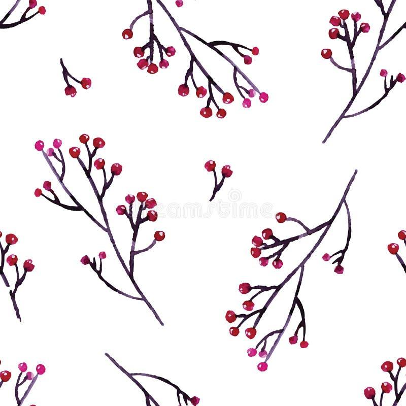 Το άνευ ραφής χέρι επεξήγησε το floral σχέδιο διανυσματική απεικόνιση