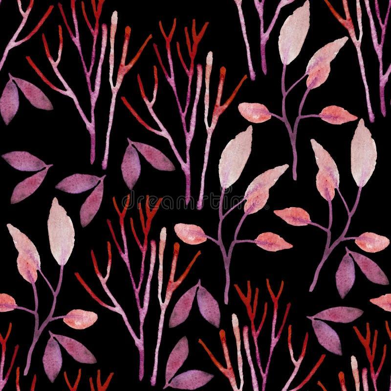 Το άνευ ραφής χέρι επεξήγησε το floral σχέδιο ελεύθερη απεικόνιση δικαιώματος