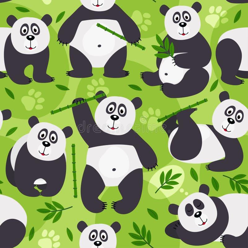 Το άνευ ραφής panda σχεδίων αντέχει ελεύθερη απεικόνιση δικαιώματος