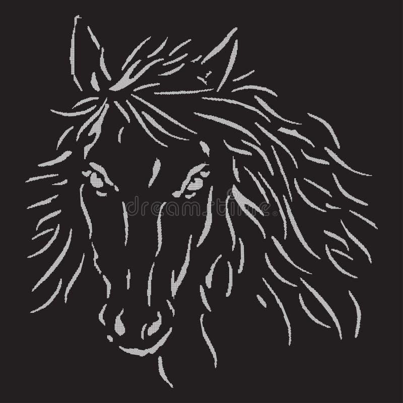Το άσπρο άλογο απεικόνιση αποθεμάτων
