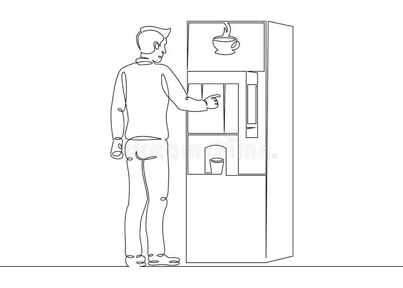 Το άτομο αγοράζει τα τρόφιμα στη μηχανή απεικόνιση αποθεμάτων