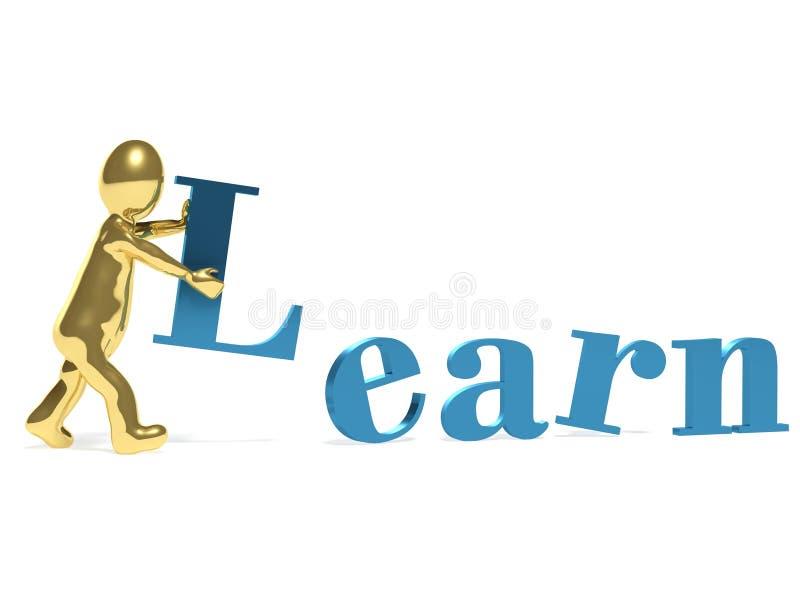 Το άτομο και η λέξη μαθαίνουν απεικόνιση αποθεμάτων