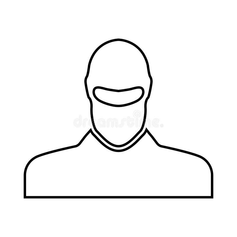 Το άτομο balaclava αυτό είναι μαύρο εικονίδιο διανυσματική απεικόνιση