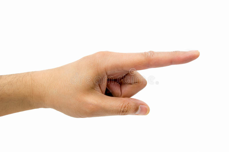 Το δάχτυλο που δείχνει τον τρόπο στοκ εικόνες