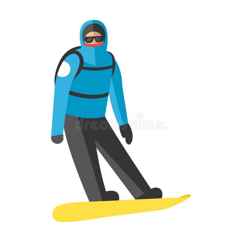 Το άλμα Snowboarder θέτει μέσα το διάνυσμα ανθρώπων ελεύθερη απεικόνιση δικαιώματος