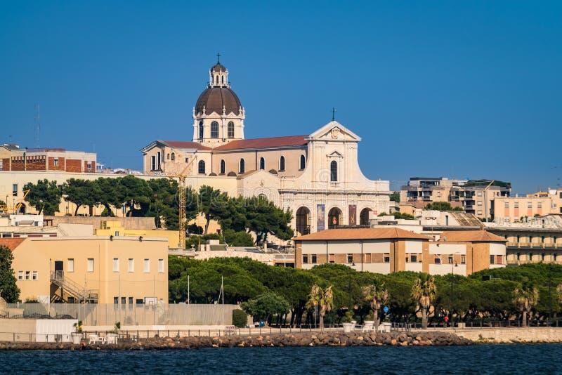 Το άδυτο της κυρίας Bonaria μας Κάλιαρι Ιταλία Σαρδηνία στοκ εικόνες με δικαίωμα ελεύθερης χρήσης