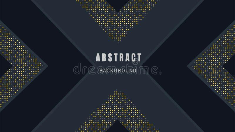 Το έγγραφο έκοψε την κομψή διακόσμηση, αφηρημένο μαύρο διάνυσμα υποβάθρου απεικόνιση αποθεμάτων