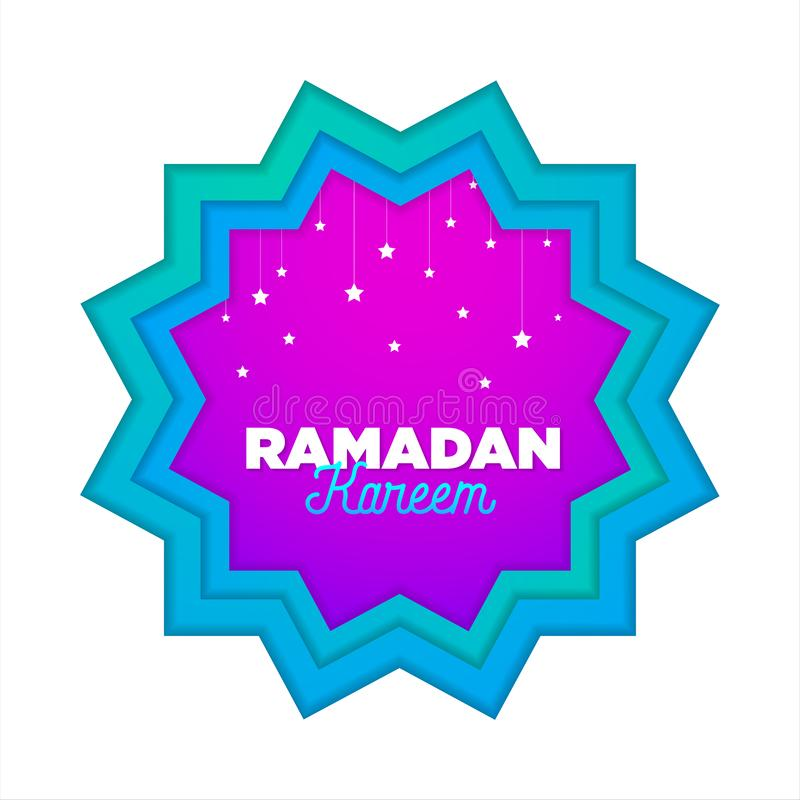 Το έγγραφο έκοψε τις ισλαμικές επίπεδες διακοπές ramadan_01 σύγχρονου σχεδίου διανυσματική απεικόνιση