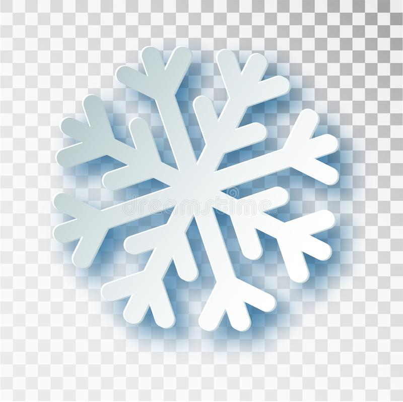 Το έγγραφο έκοψε snowflake με τη σκιά που απομονώθηκε στο διαφανές υπόβαθρο Χριστούγεννα και νέο πρότυπο σχεδίου έτους s, πρότυπο ελεύθερη απεικόνιση δικαιώματος