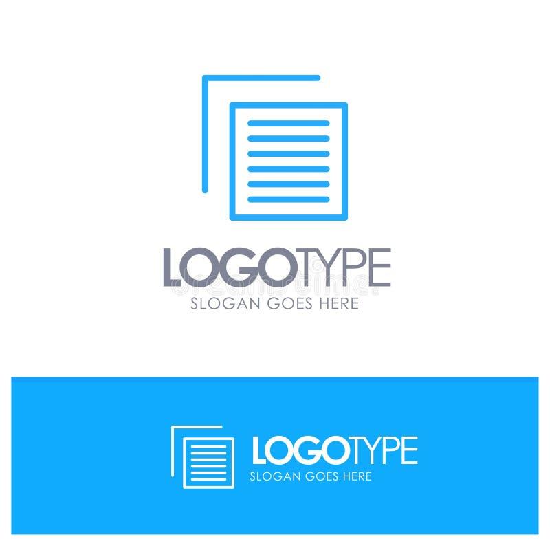 Το έγγραφο, αρχείο, χρήστης, διασυνδέει την μπλε θέση λογότυπων περιλήψεων για Tagline απεικόνιση αποθεμάτων