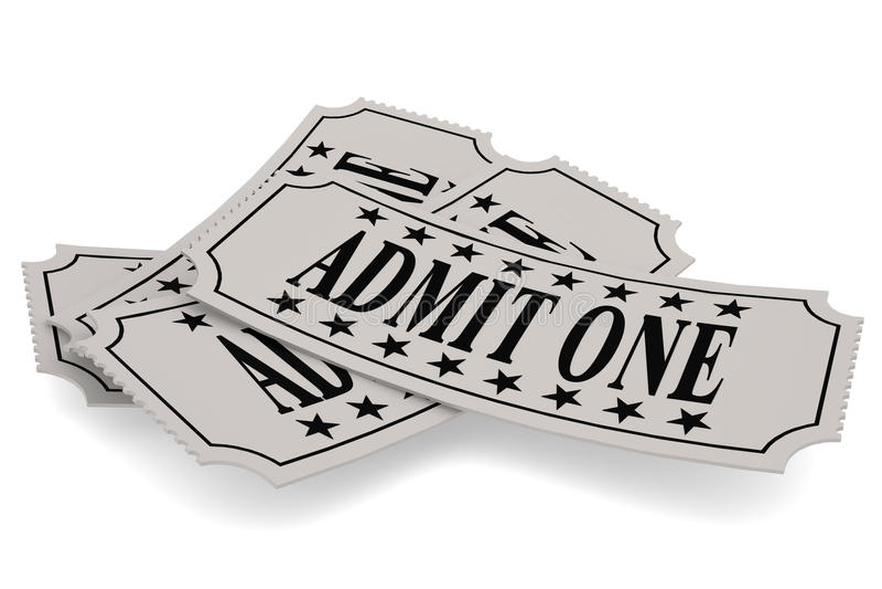 Το έγγραφο εισιτηρίων με αναγνωρίζει μια λέξη ελεύθερη απεικόνιση δικαιώματος