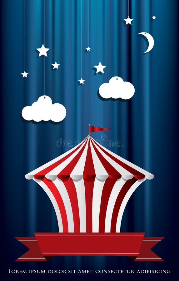 Το έγγραφο καλύπτει το τσίρκο διανυσματική απεικόνιση