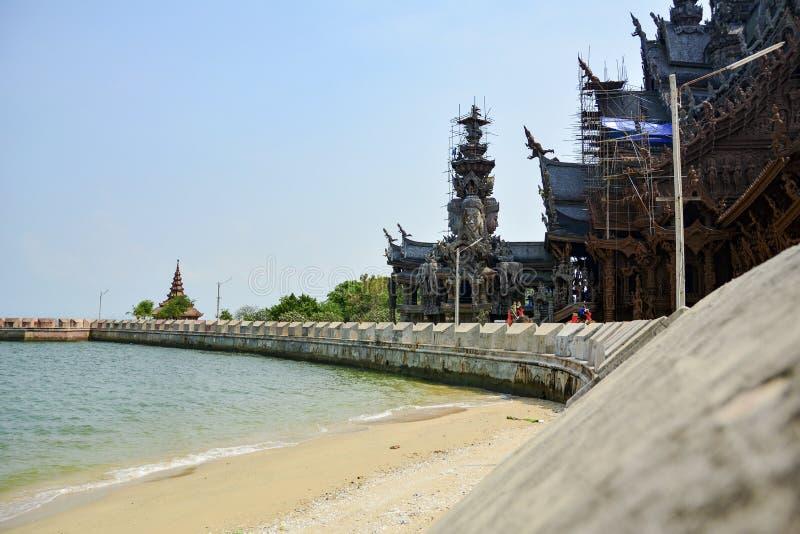 Το έδαφος του ναού της αλήθειας Pattaya Ταϊλάνδη στοκ φωτογραφίες με δικαίωμα ελεύθερης χρήσης
