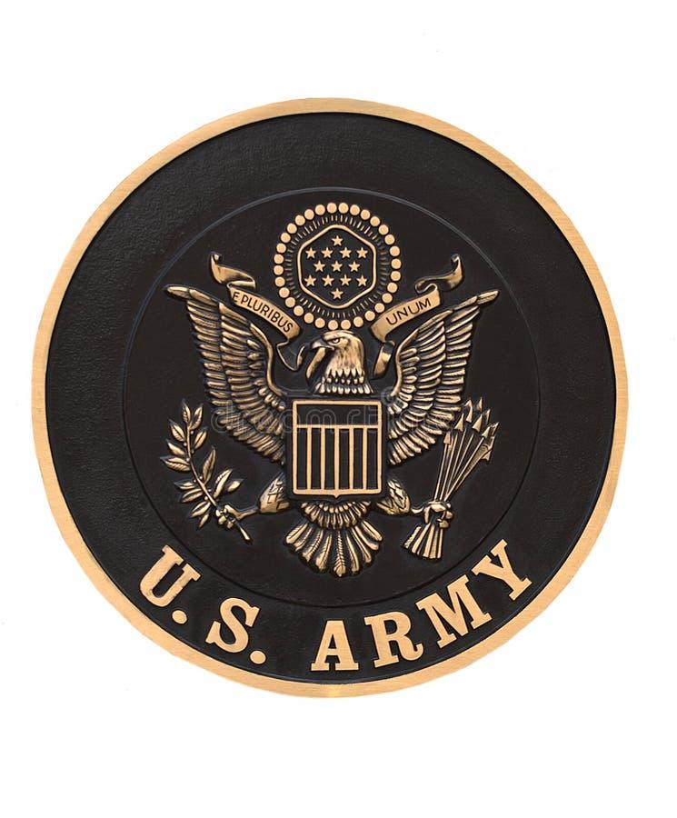 το έμβλημα στρατού δηλώνε&iota στοκ φωτογραφίες με δικαίωμα ελεύθερης χρήσης