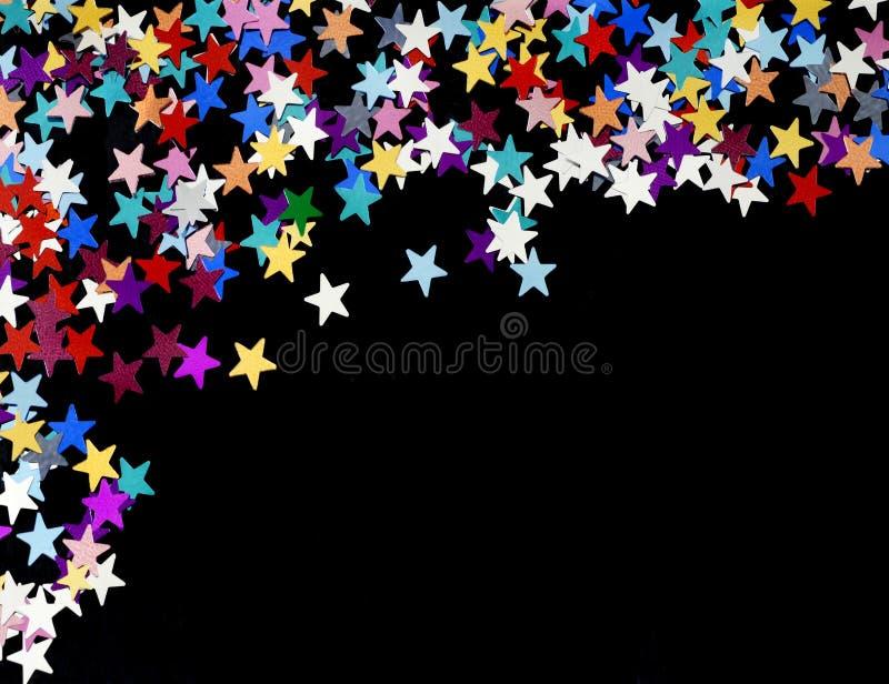 Το έναστρο υπόβαθρο νύχτας, μέρη των αστεριών διασκόρπισε σε ένα σαφές μαύρο υπόβαθρο, διάστημα αντιγράφων στοκ εικόνα