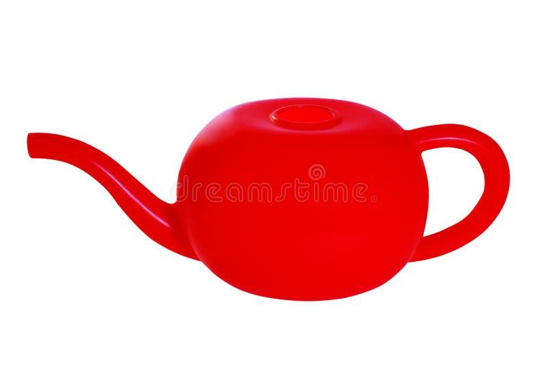 Το ένα κόκκινο πότισμα μπορεί, απομονωμένος στο άσπρο υπόβαθρο στοκ φωτογραφία με δικαίωμα ελεύθερης χρήσης