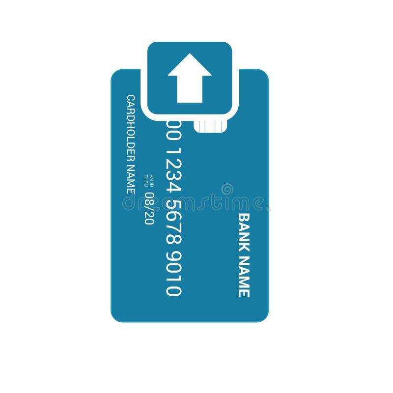 Το ένθετο τραπεζικών καρτών φορτώνει το εικονίδιο ελεύθερη απεικόνιση δικαιώματος