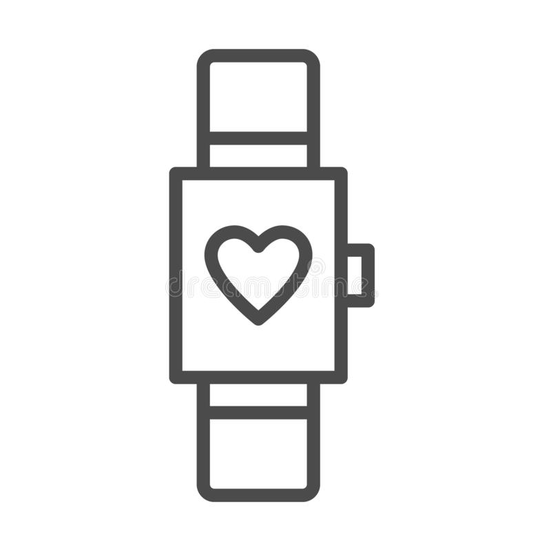 Το έξυπνο ρολόι απομόνωσε το ελάχιστο εικονίδιο πολυσύνθετο διανυσματικό εικονίδιο γραμμών γραφικών παραστάσεων ρολογιών για τους απεικόνιση αποθεμάτων