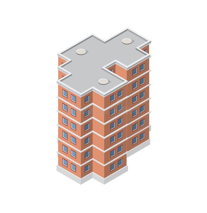 Το έξυπνο σπίτι οικοδόμησης απεικόνιση αποθεμάτων