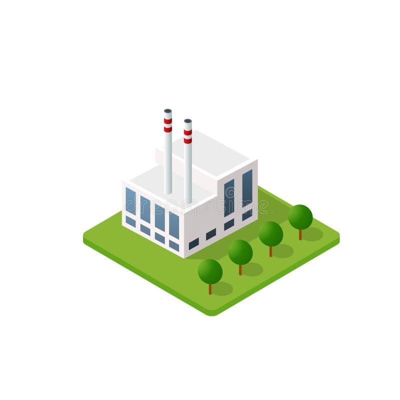 Το έξυπνο σπίτι οικοδόμησης ελεύθερη απεικόνιση δικαιώματος