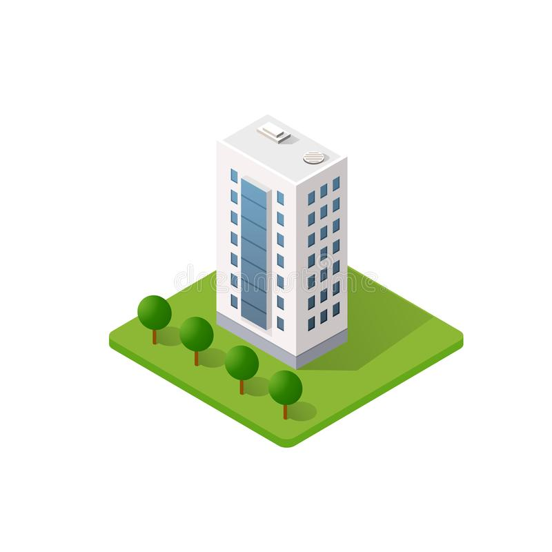 Το έξυπνο σπίτι οικοδόμησης διανυσματική απεικόνιση
