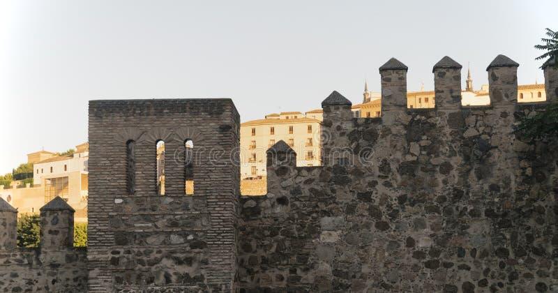 Τολέδο Ισπανία: τοίχοι στοκ φωτογραφία με δικαίωμα ελεύθερης χρήσης